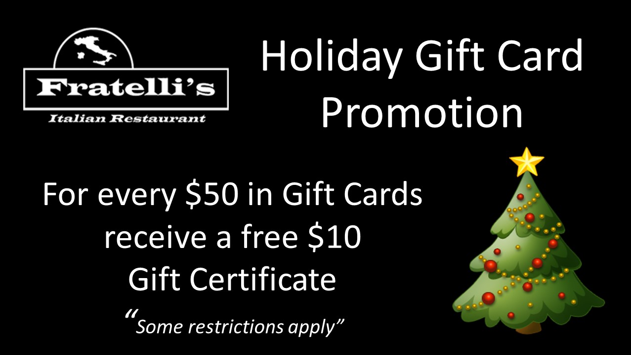 holiday gift card promo